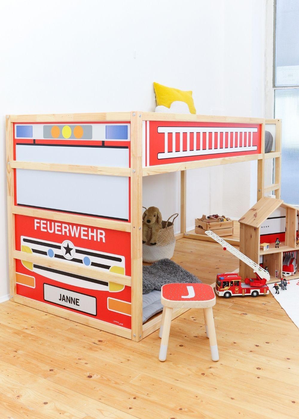 Kinderzimmer Jungen Feuerwehrbett
