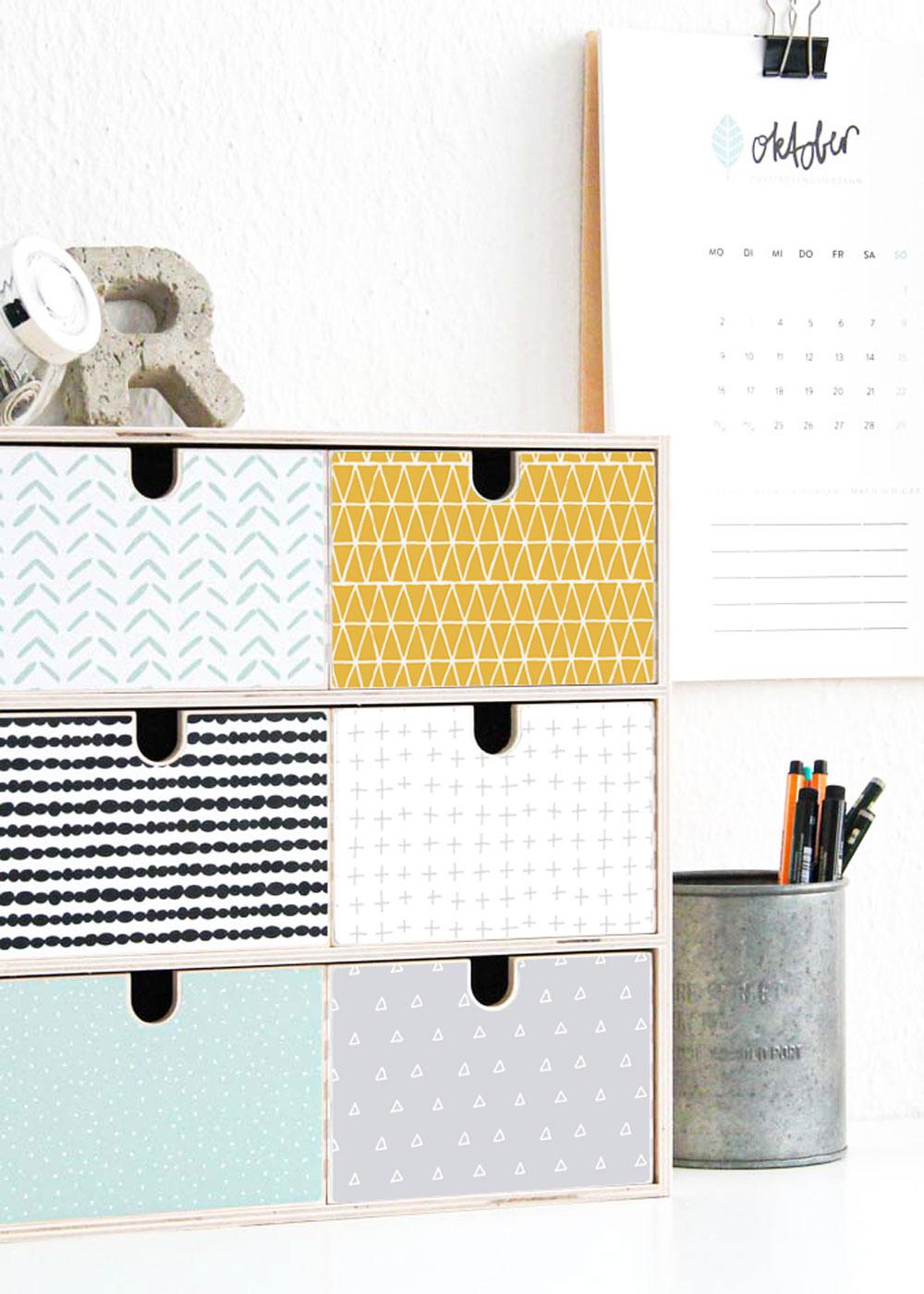 Ikea Moppe Mini Kommode Musta Senf Mint 31x18x32 Gesamt