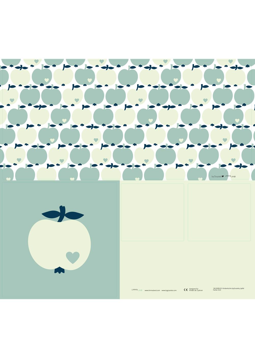 Ikea Duktig Kinderküche Apfel ByGraziela Mint Stickerset
