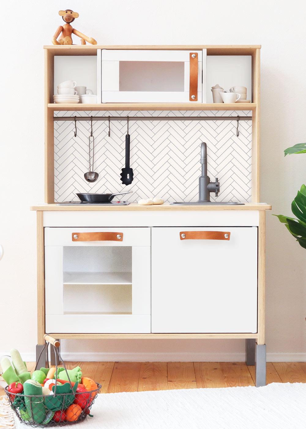 Ikea Duktig Kinderküche Kachla Fiskben weiss Frontansicht