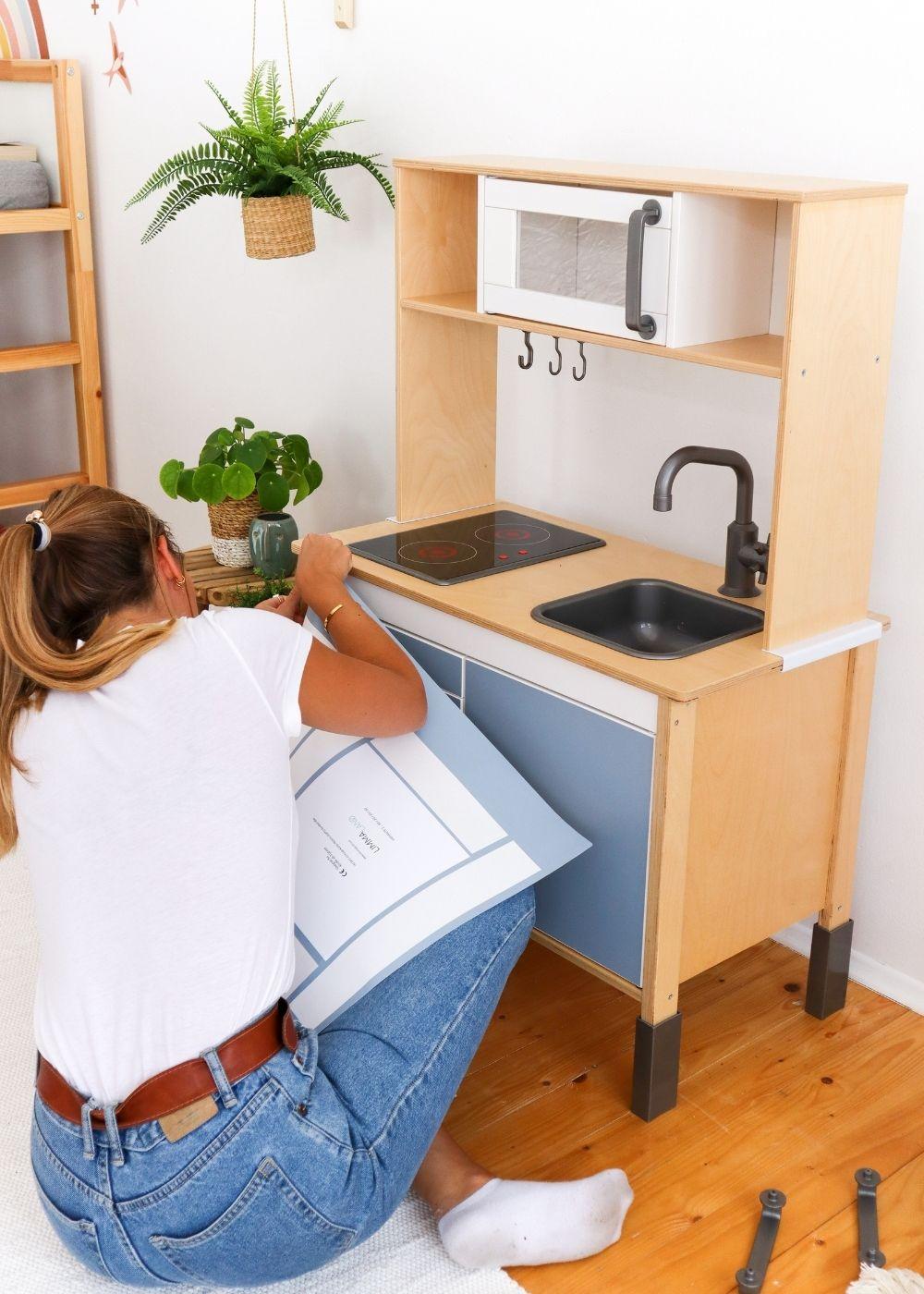Frontli Kinderküche Klebefolie nordisch blau