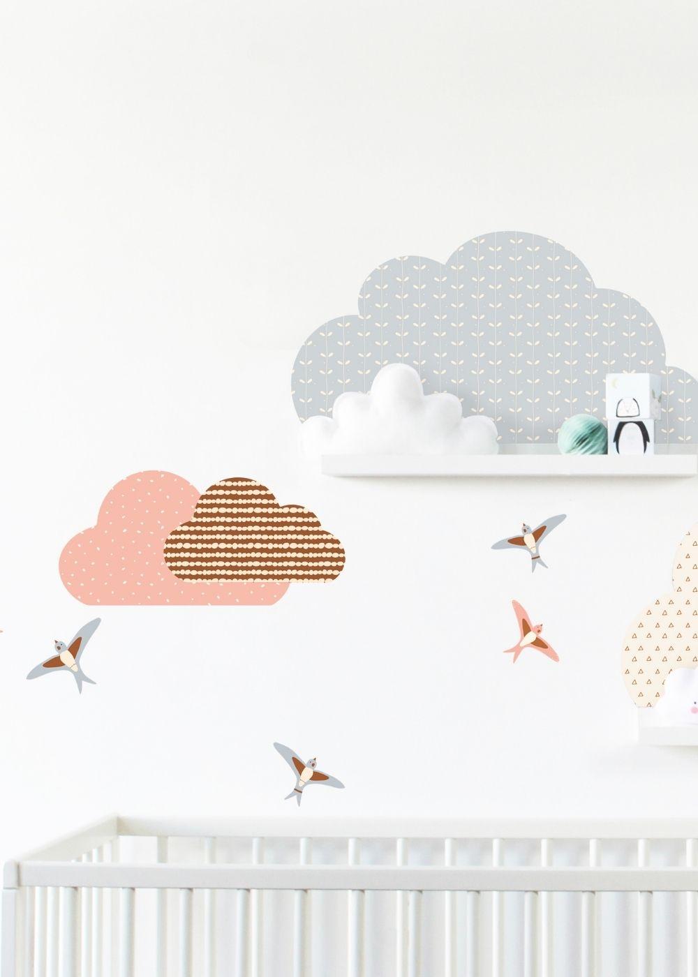 Babyzimmer Wolken Wanddeko