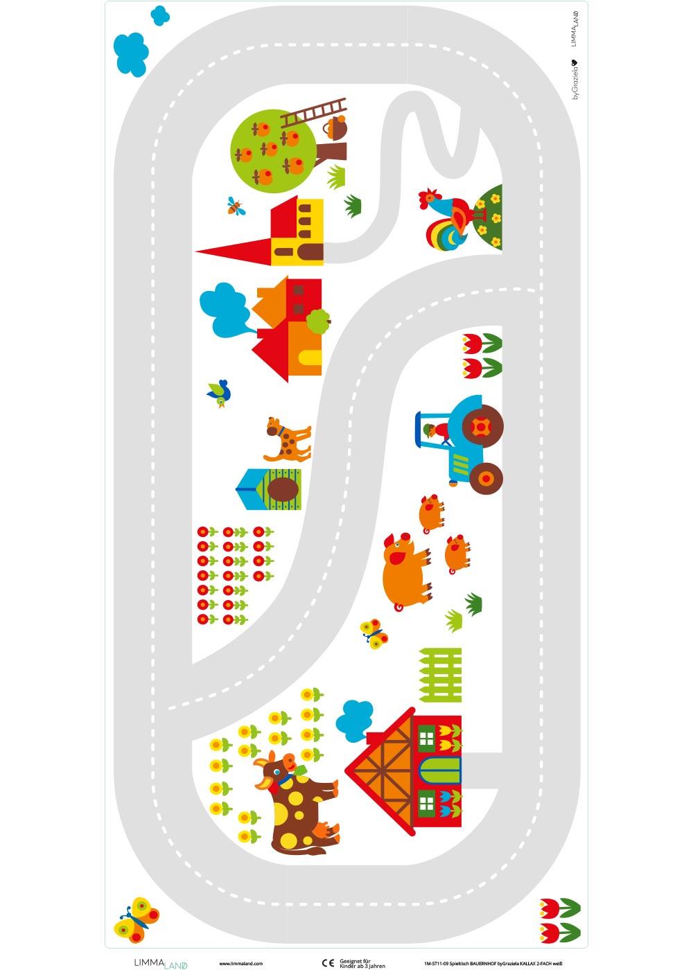 Ikea Kallax Regal ByGraziela Bauernhof 2fach Druckvorlage