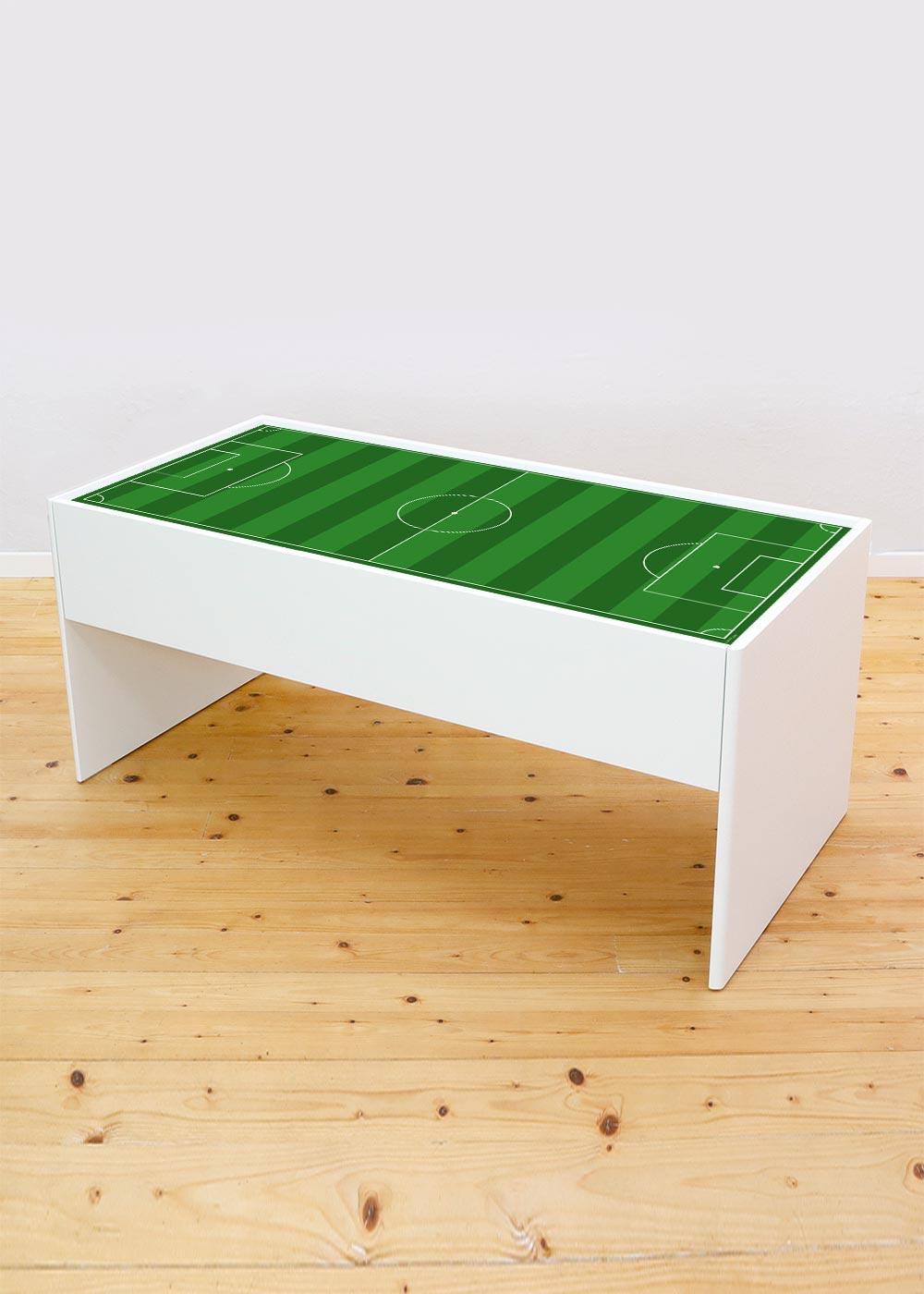 Ikea Dundra Spieltisch Fussballfeld gün Komplettansicht