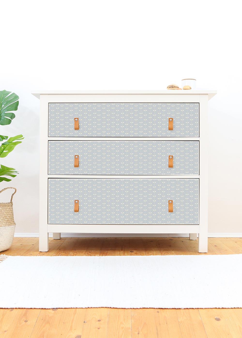 Ikea Hemnes Kommode Ährig eisblau Frontansicht