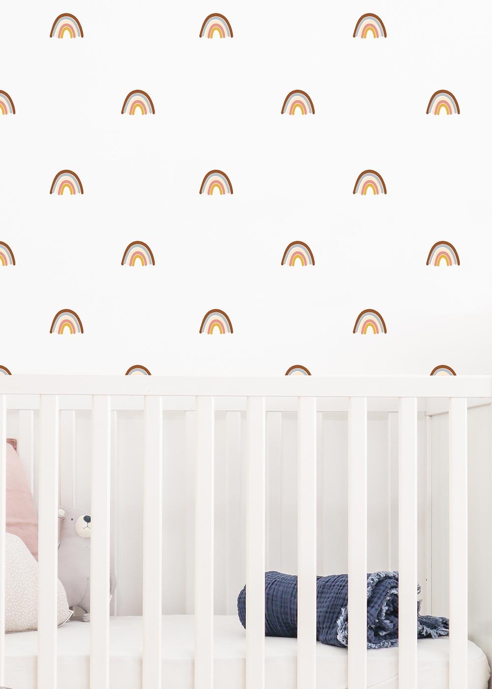 Wandtattoo Regenbögen Wandgestaltung im Kinderzimmer Camel Teilansicht