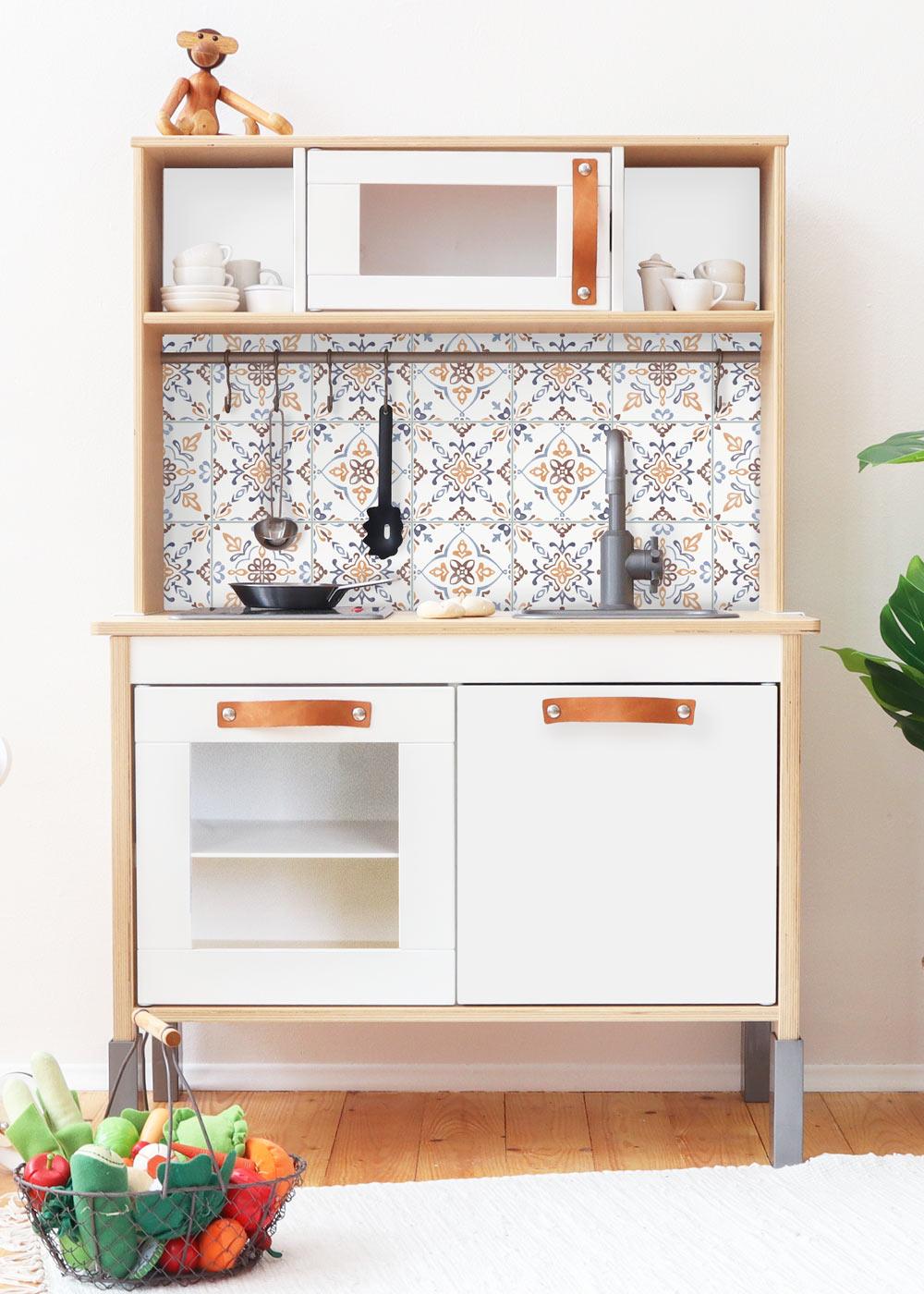 Ikea Duktig Kinderküche Kachla Mediterano Nordisch blau Komplettansicht