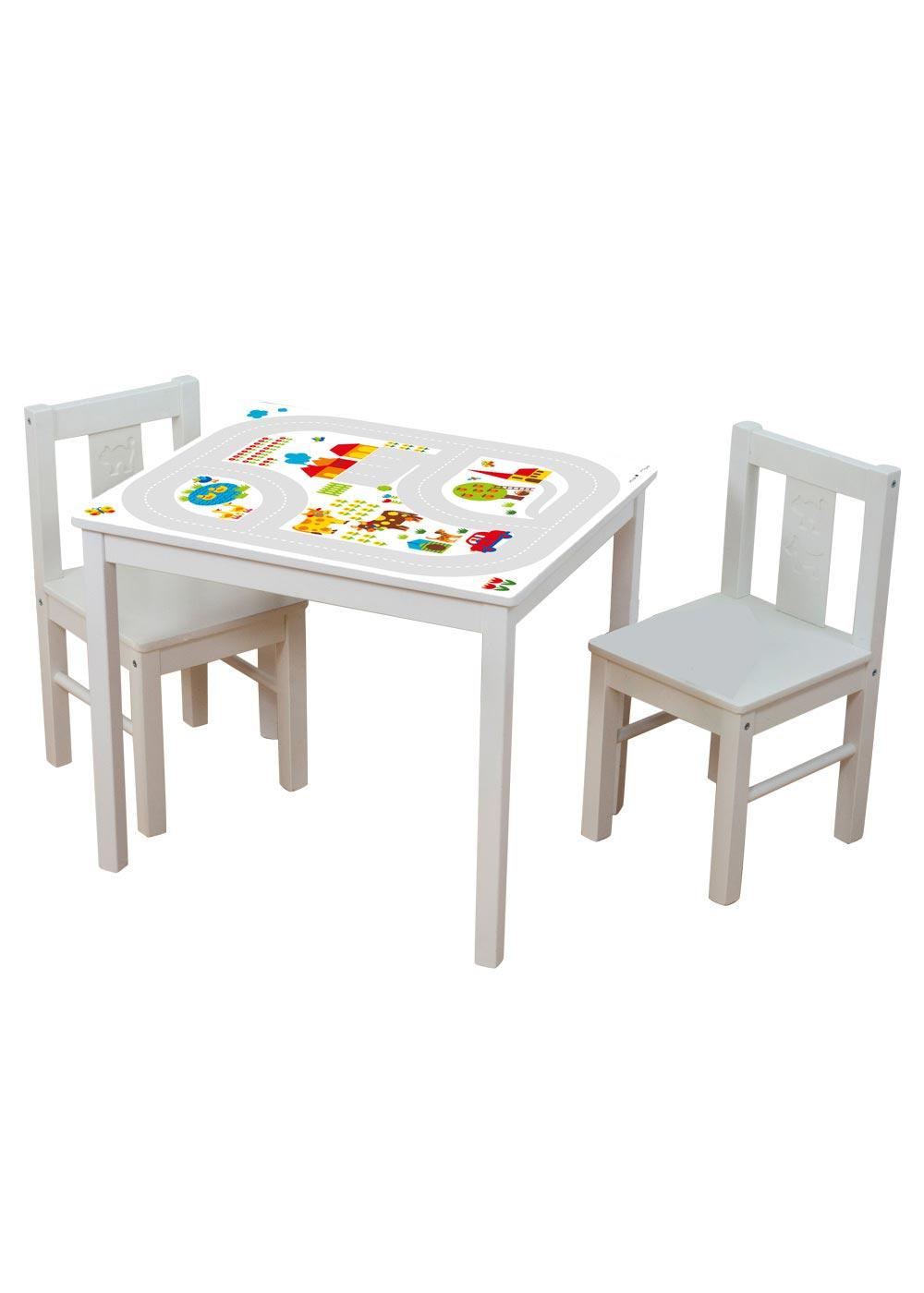 Ikea Kritter Kindertisch ByGraziela Bauernhof Komplettansicht mit Stühlen