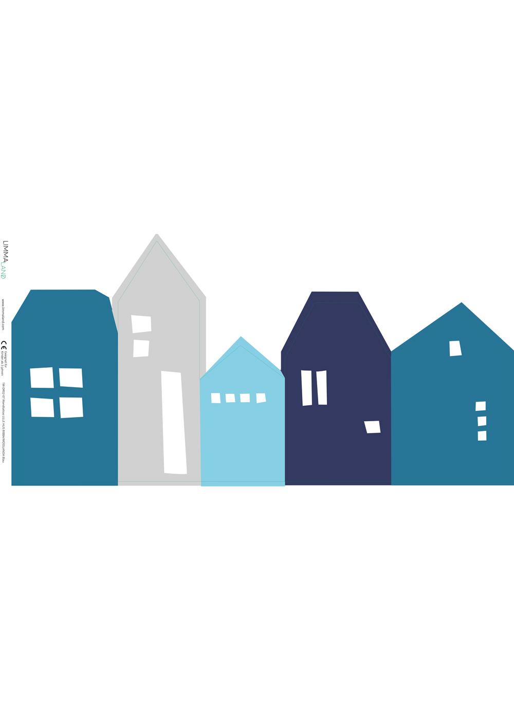 Ikea Mosslanda Bilderleiste Lille Hus blau hellgrau Druckvorlage