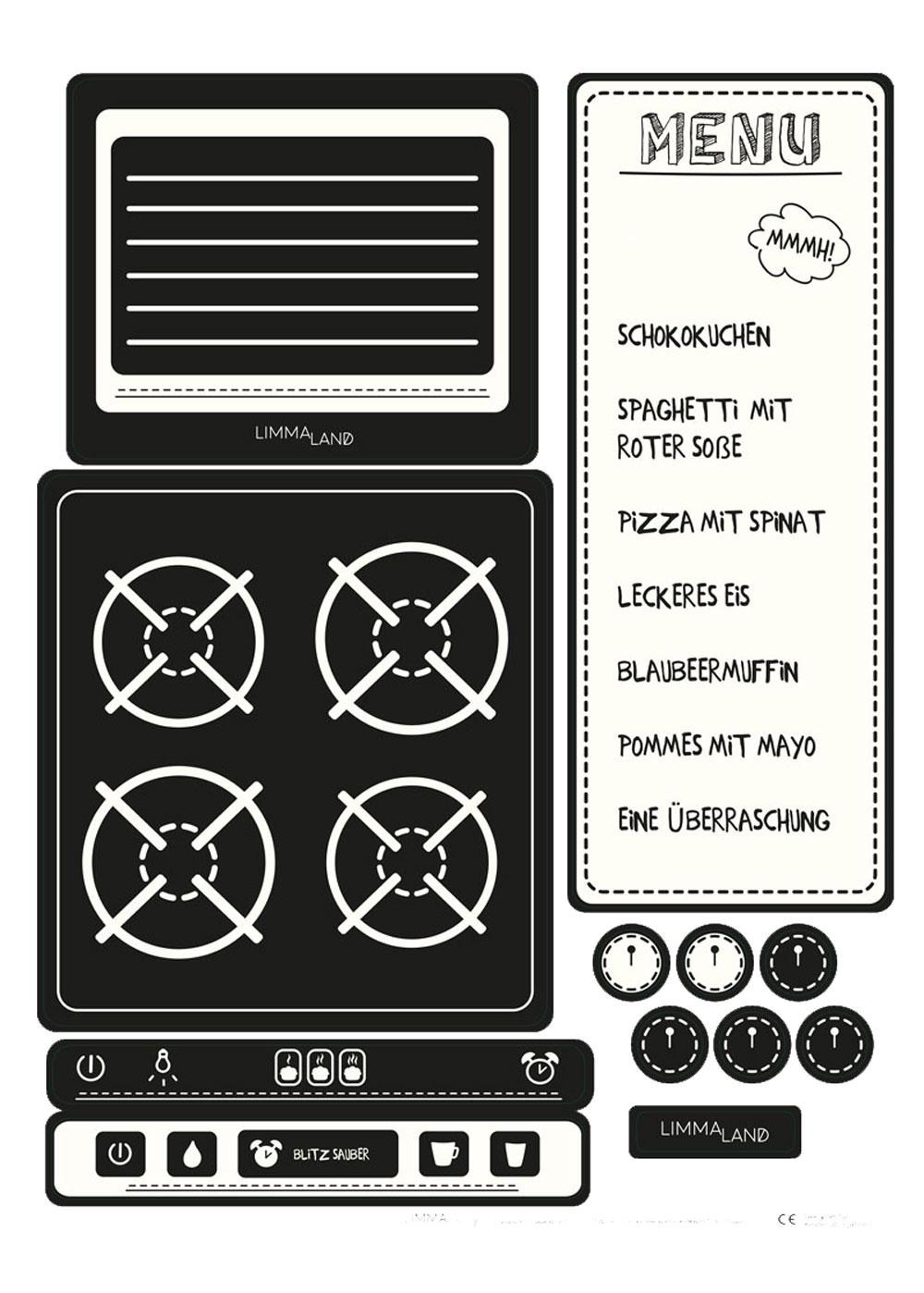 Kinderküche DIY Kökbastla Druckvorlage