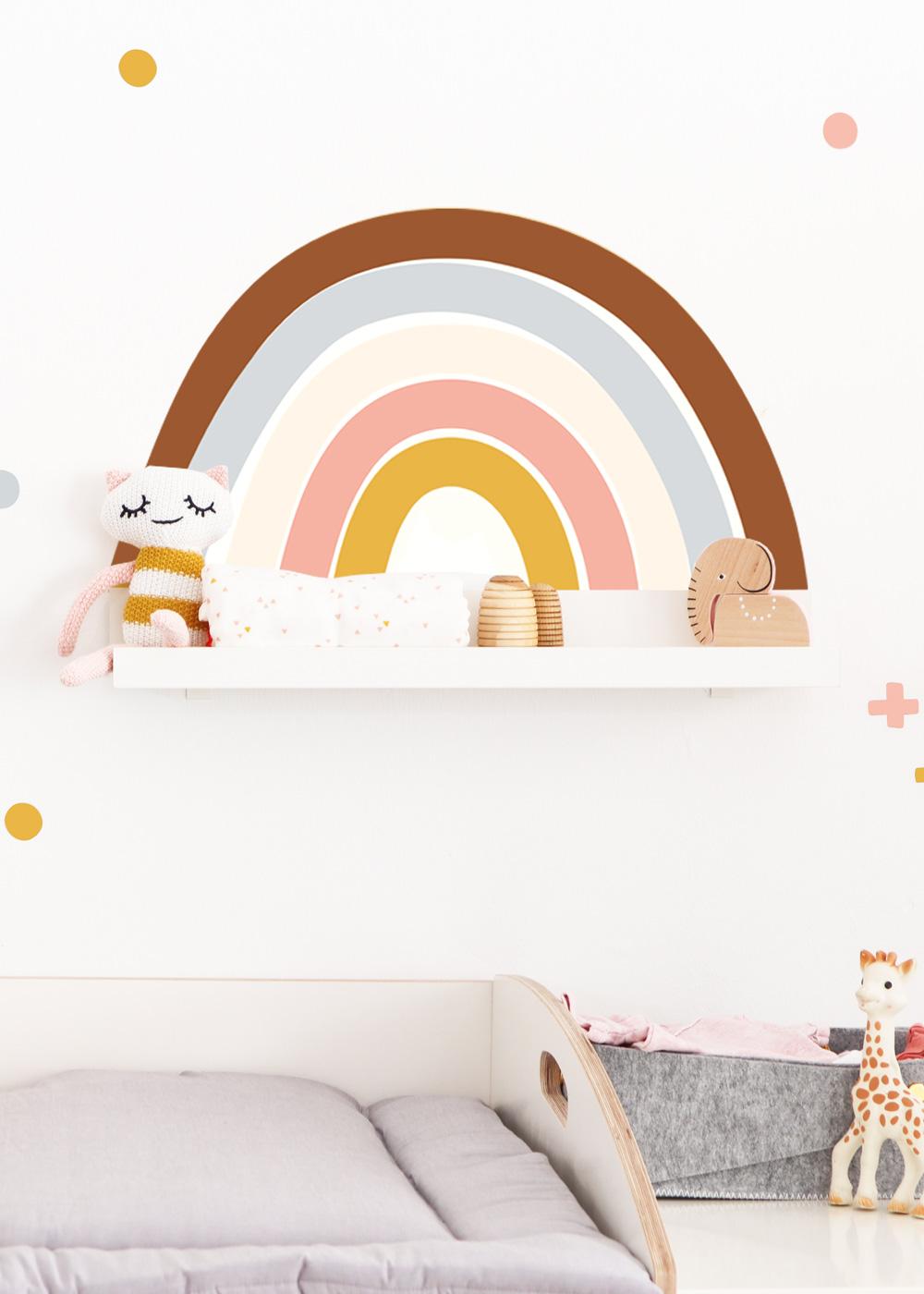 Ikea Mosslanda Bilderleiste Vielfalt Regenbogen Camel rose Gesamtansicht