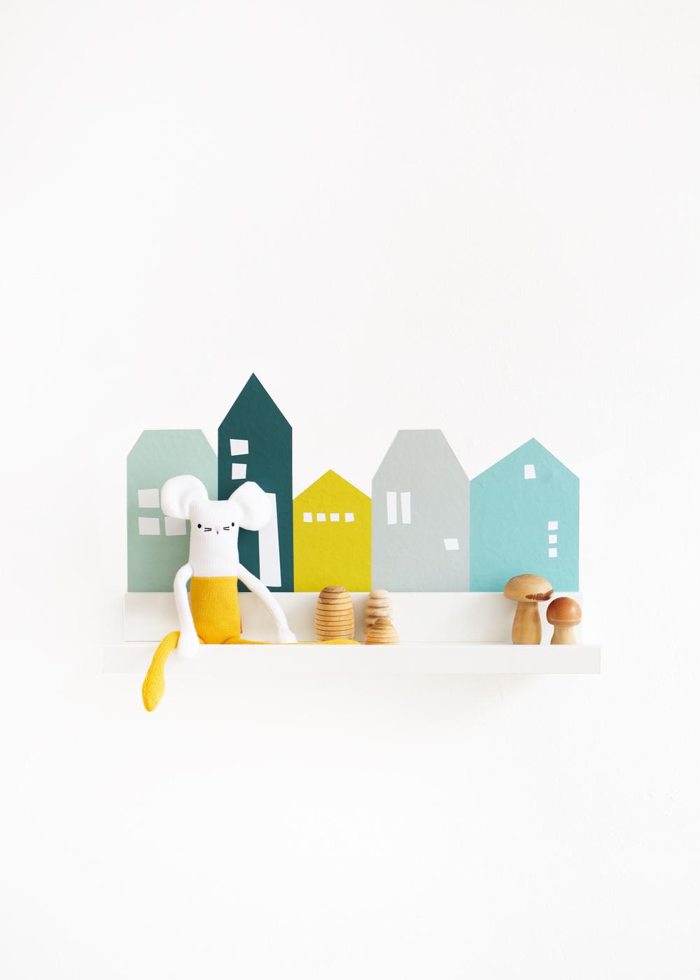 Ikea Mosslanda Bilderleiste Lille Hus mint Waldgrün Komplettansicht