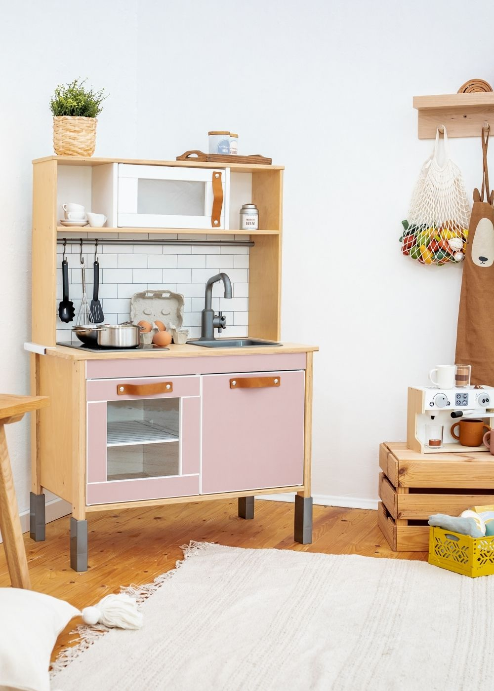 Kinderküche Kombi Rosa