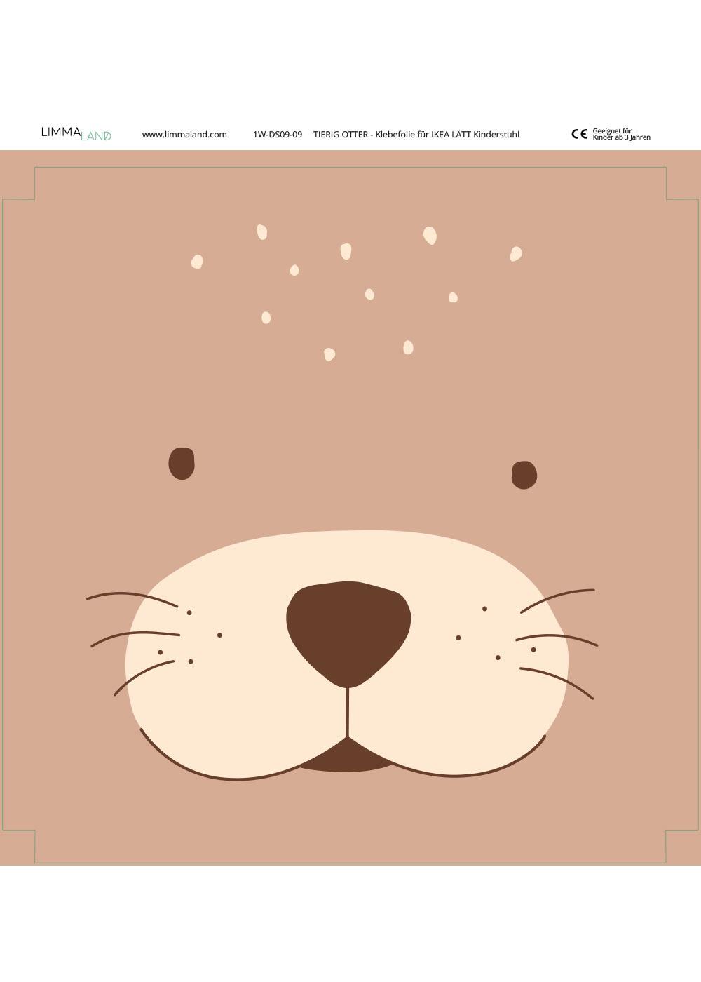 klebefolie ikea laett kinderstuhl tierig otter 4