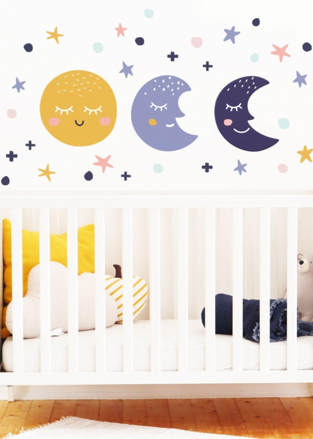 Babyzimmer Mond Wanddeko