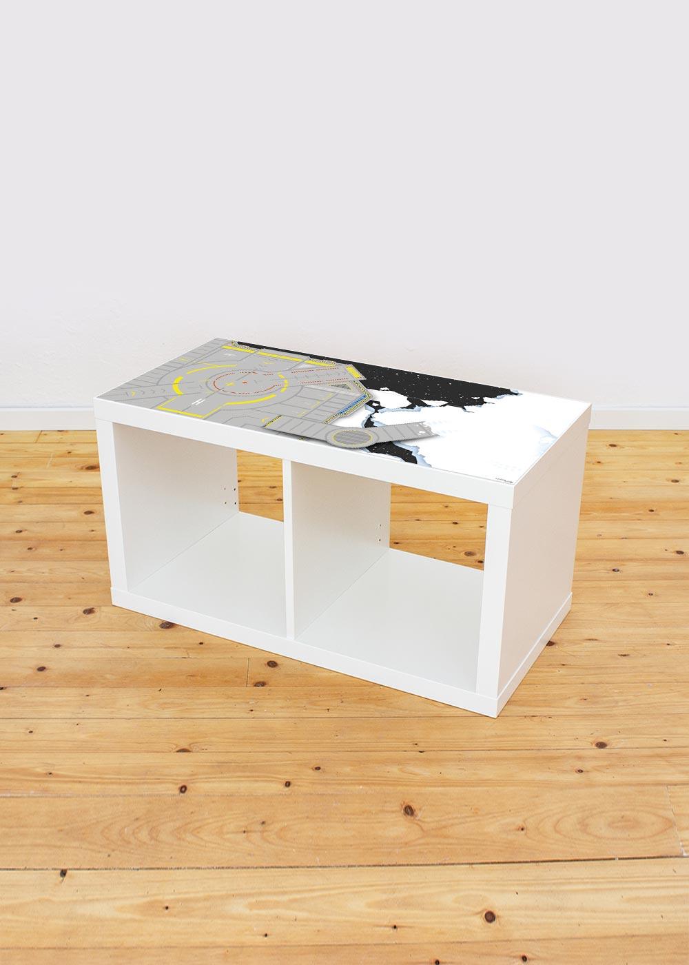 Ikea Kallax Regal Weltraum 2fach Komplettansicht