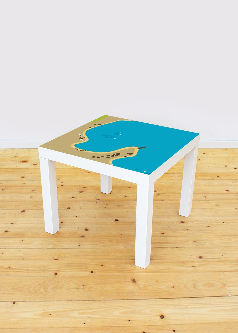 Ikea Lack Beistelltisch Wasserreich Komplettansicht