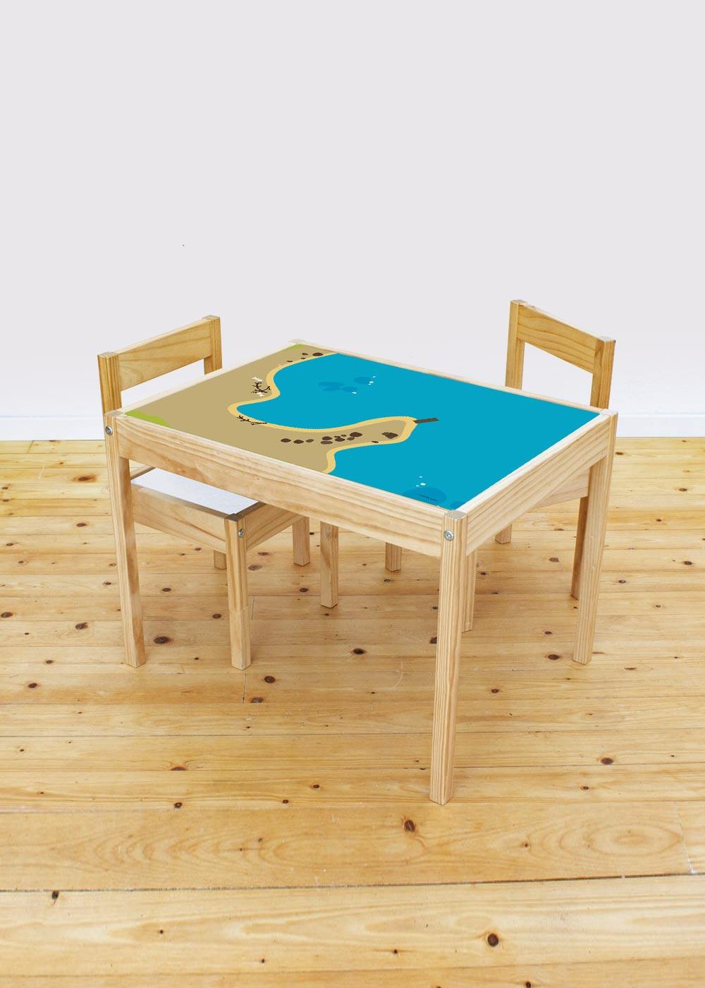 Ikea Lätt Kindertisch Wasserreich Gesamtansicht