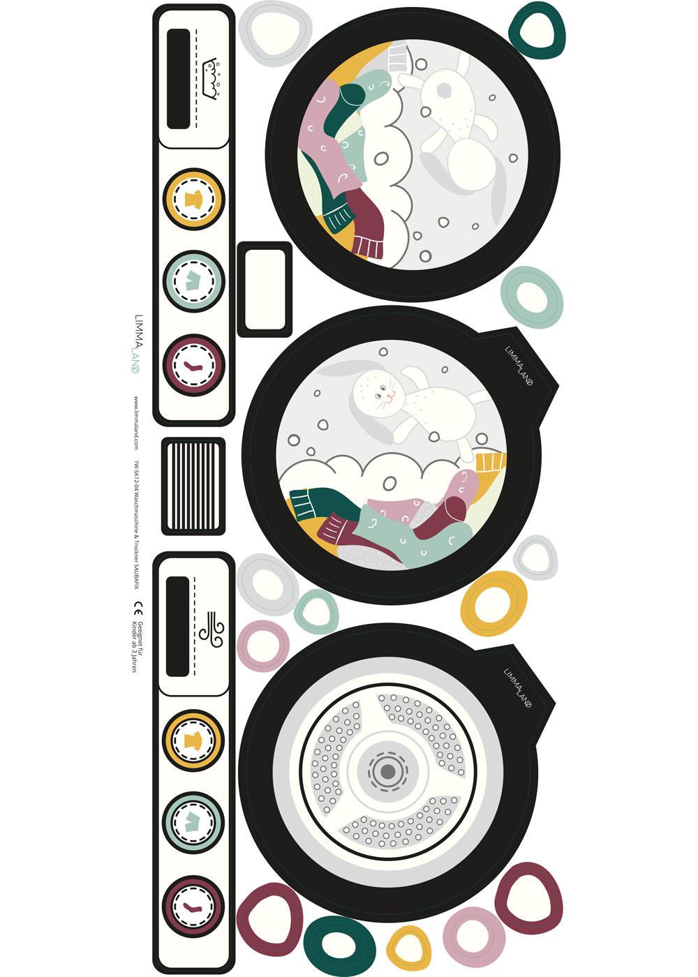 Kinderwaschmaschine Saubafix Teilansicht Waschmaschine Druckvorlage