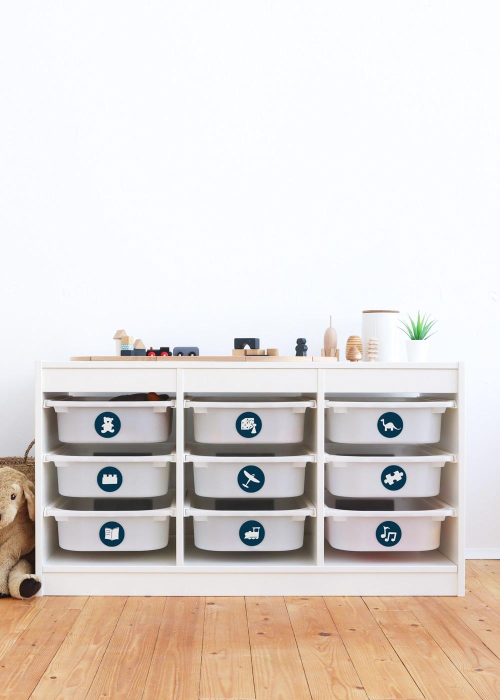 Ikea Trofast Spielzeug dunkelblau
