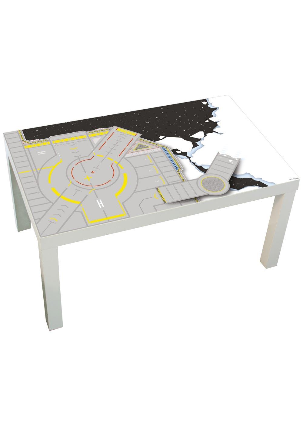 Ikea Lack Couchtisch Weltraum 55x90 Komplettansicht