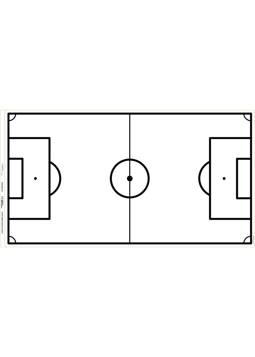 Ikea Smastad Bank Fussballfeld weiss Druckvorlage