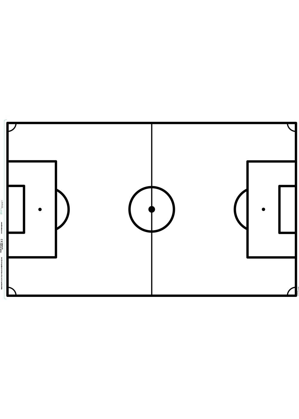Ikea Lack Couchtisch Fussballfeld weiss 55x90 Druckvorlage