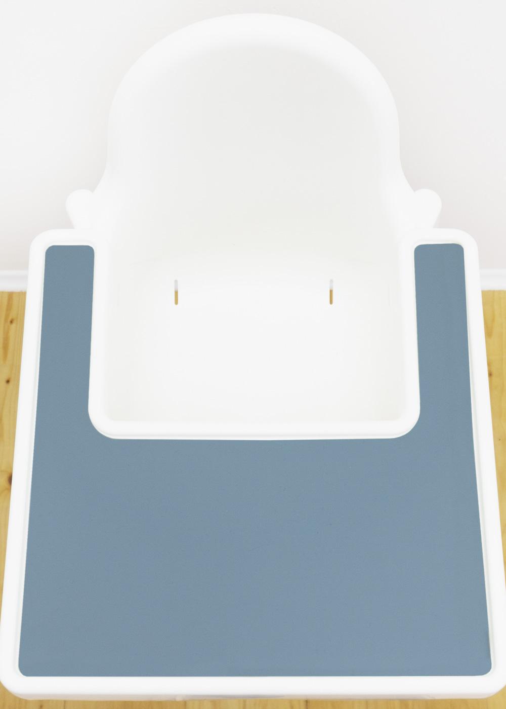 Silikonmatte Ikea Antilop Hochstuhl Klecka Mat nordisch blau Gesamtansicht oben