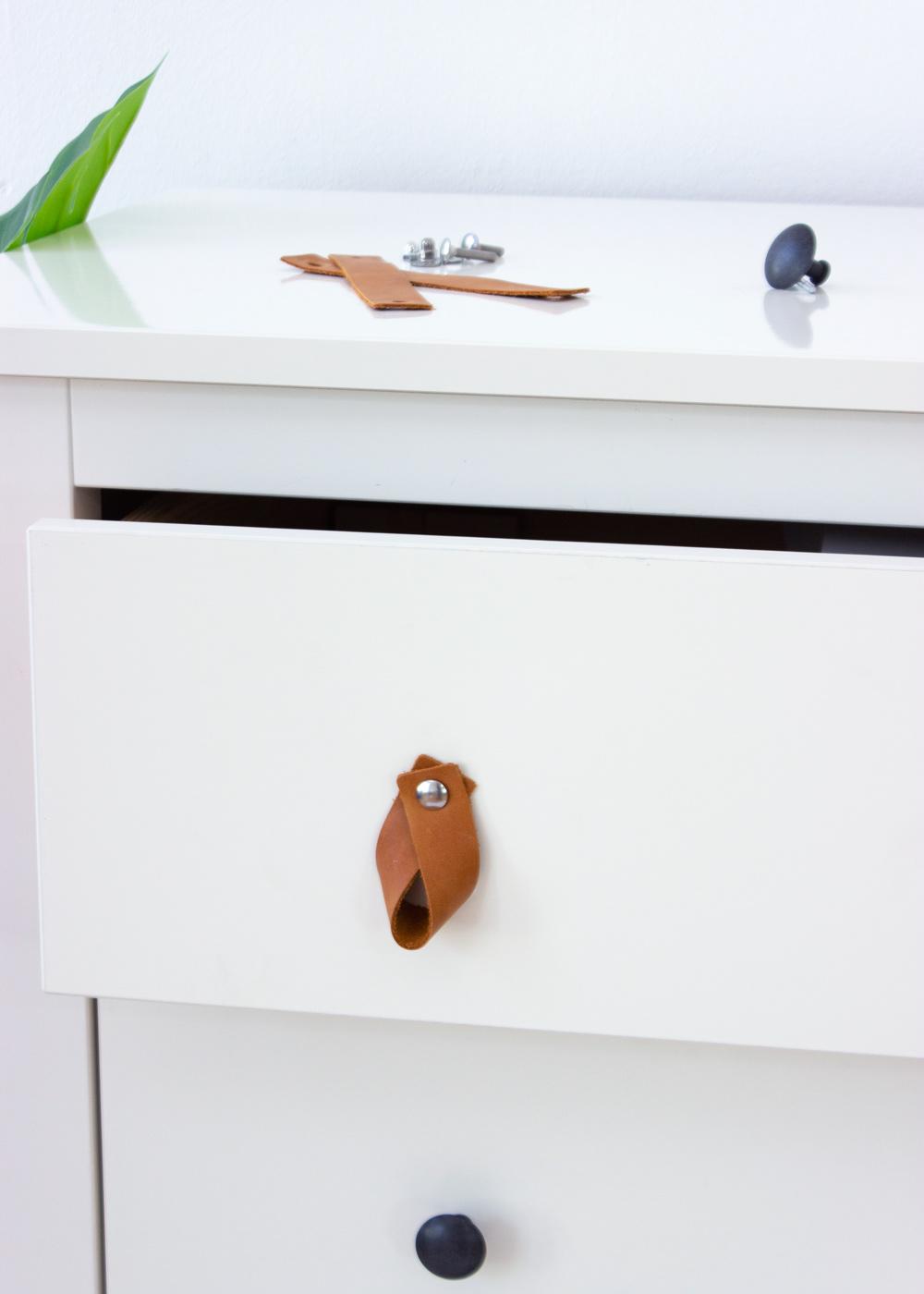 Ledergriffe Ikea Möbel Läderig Teilansicht Kommode Austausch