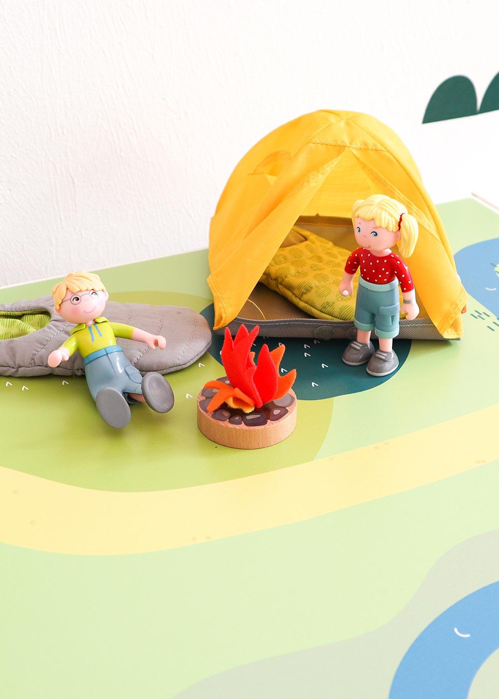 Ikea Kallax Regal Spielwiese 4fach Teilansicht Zelt