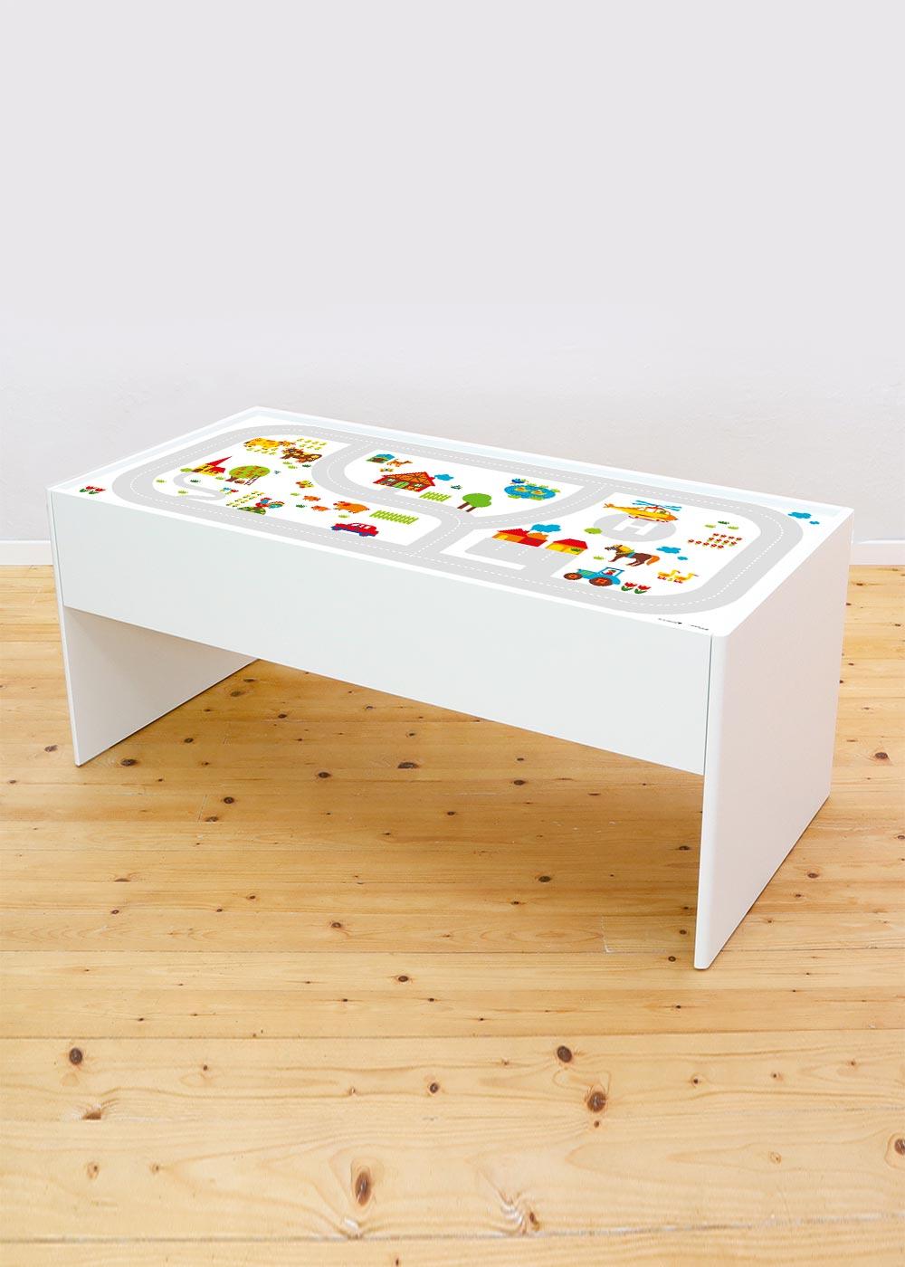 Ikea Dundra Spieltisch ByGraziela Bauernhof Komplettansicht