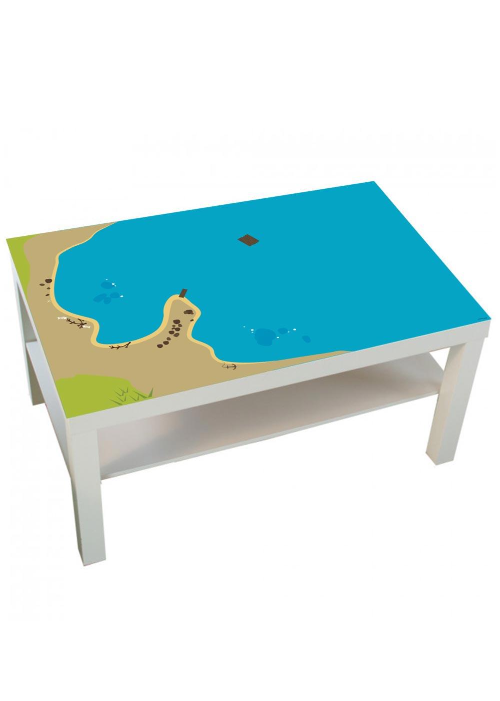 Ikea Lack Couchtisch Wasserreich 55x90 Komplettansicht
