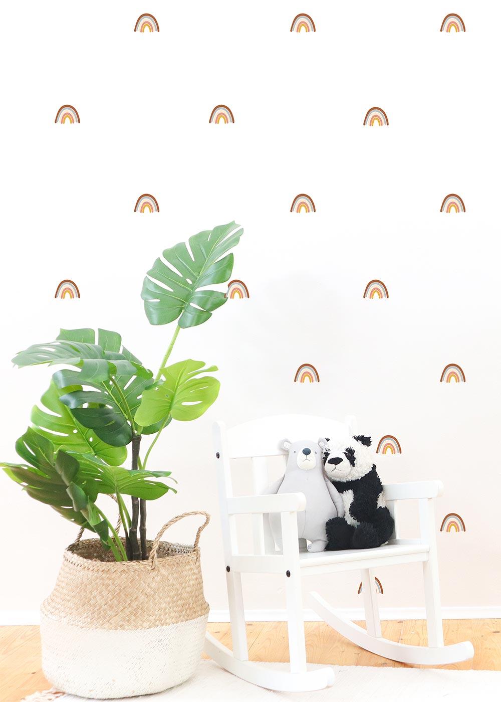 Wandtattoo Regenbögen Wandgestaltung im Kinderzimmer Camel Ausschnitt