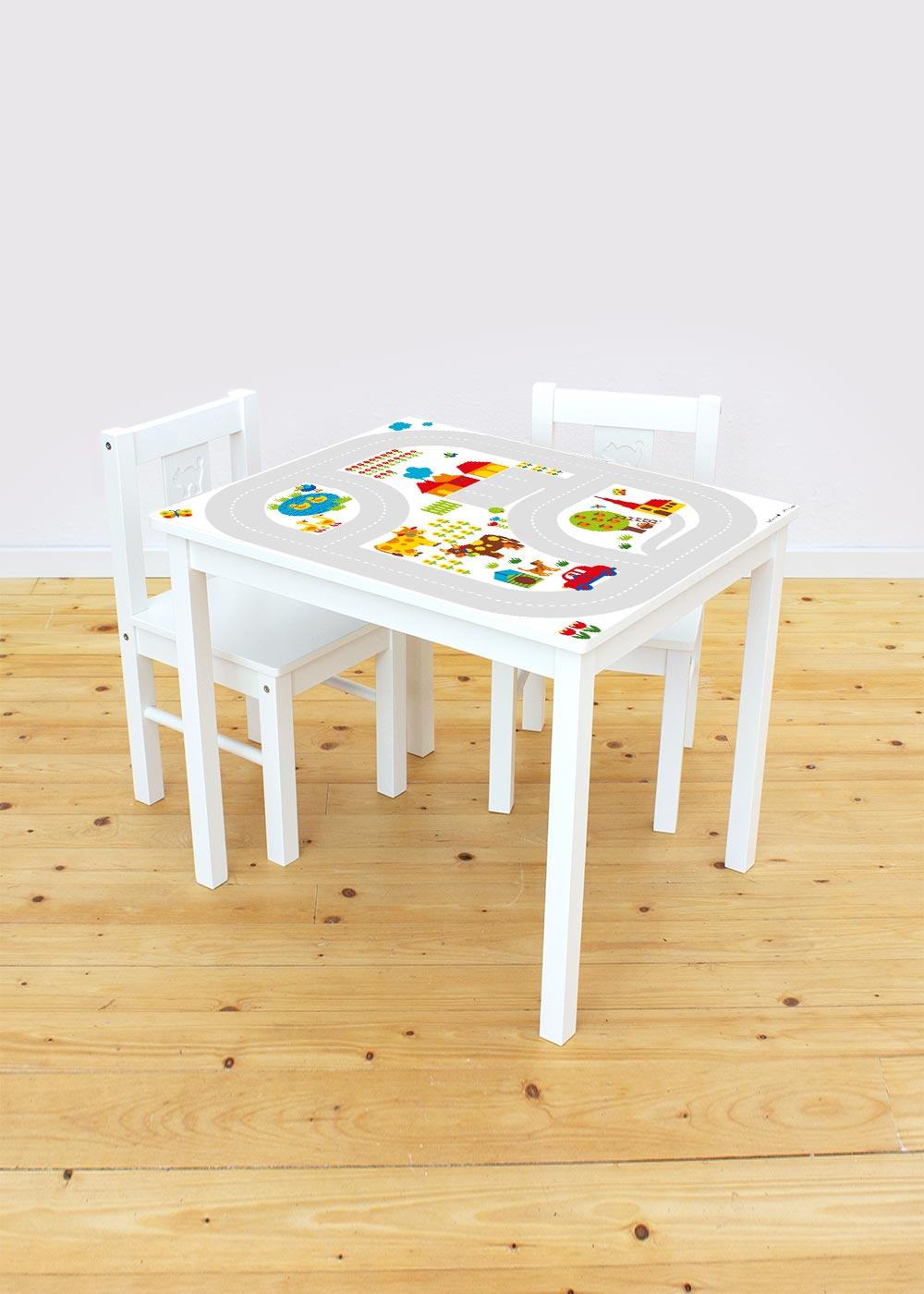 Ikea Kritter Kindertisch ByGraziela Bauernhof Komplettansicht