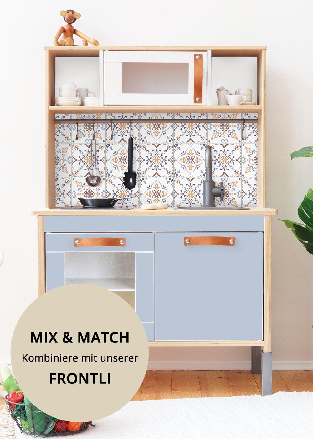 Ikea Duktig Kinderküche Kachla Mediterano Nordisch blau Druckvorlage