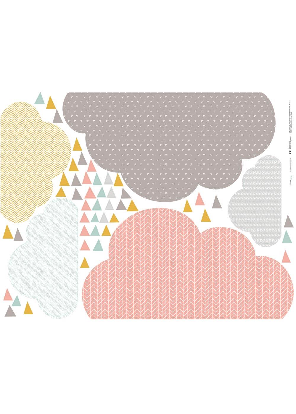 Ikea Mosslanda Bilderleiste Musta Wolken rosa taupe Druckvorlage