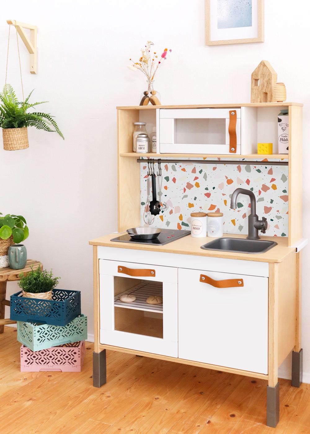 Ikea Duktig Kinderküche Kachla Terrazzo Rost Rosa Komplettansicht
