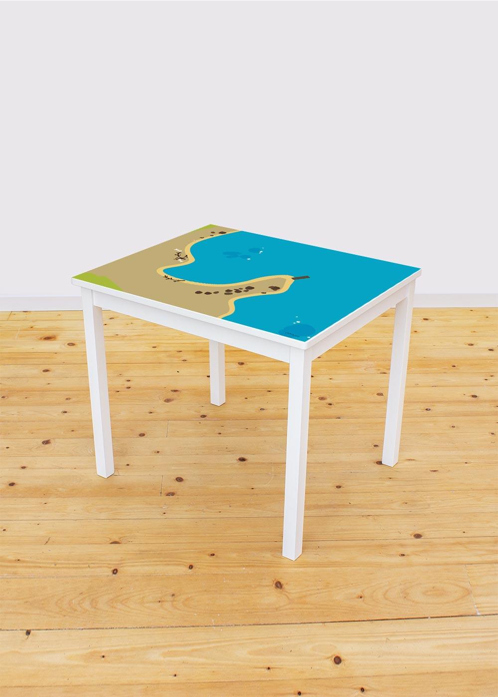 Ikea Kritter Kindertisch Wasserreich Komplettansicht