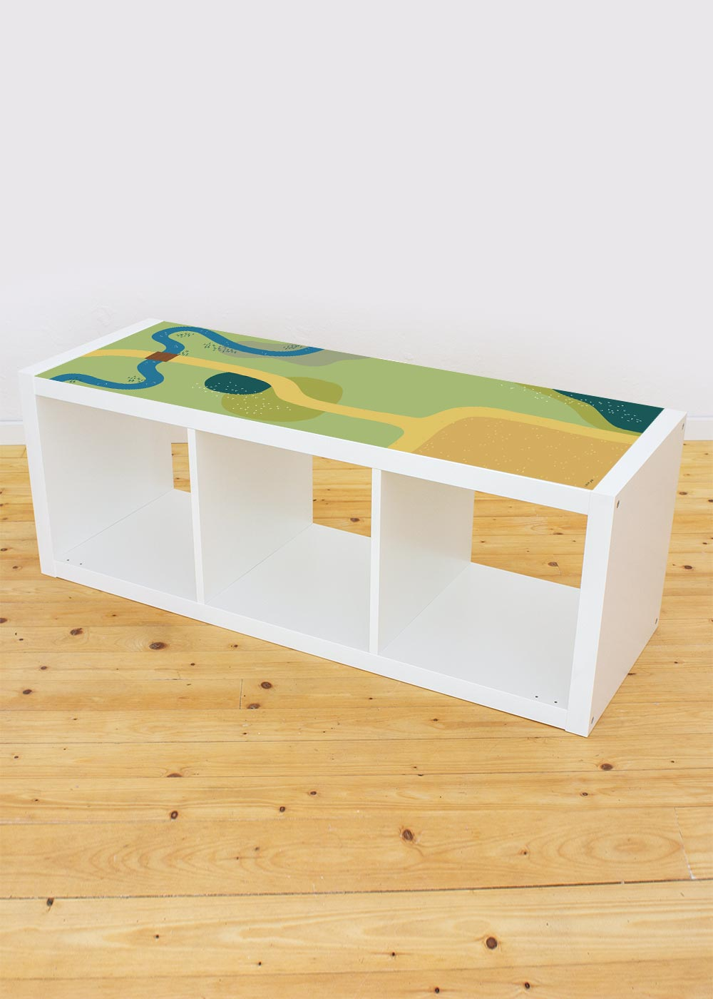 Ikea Kallax Regal Spielwiese 3fach Komplettansicht