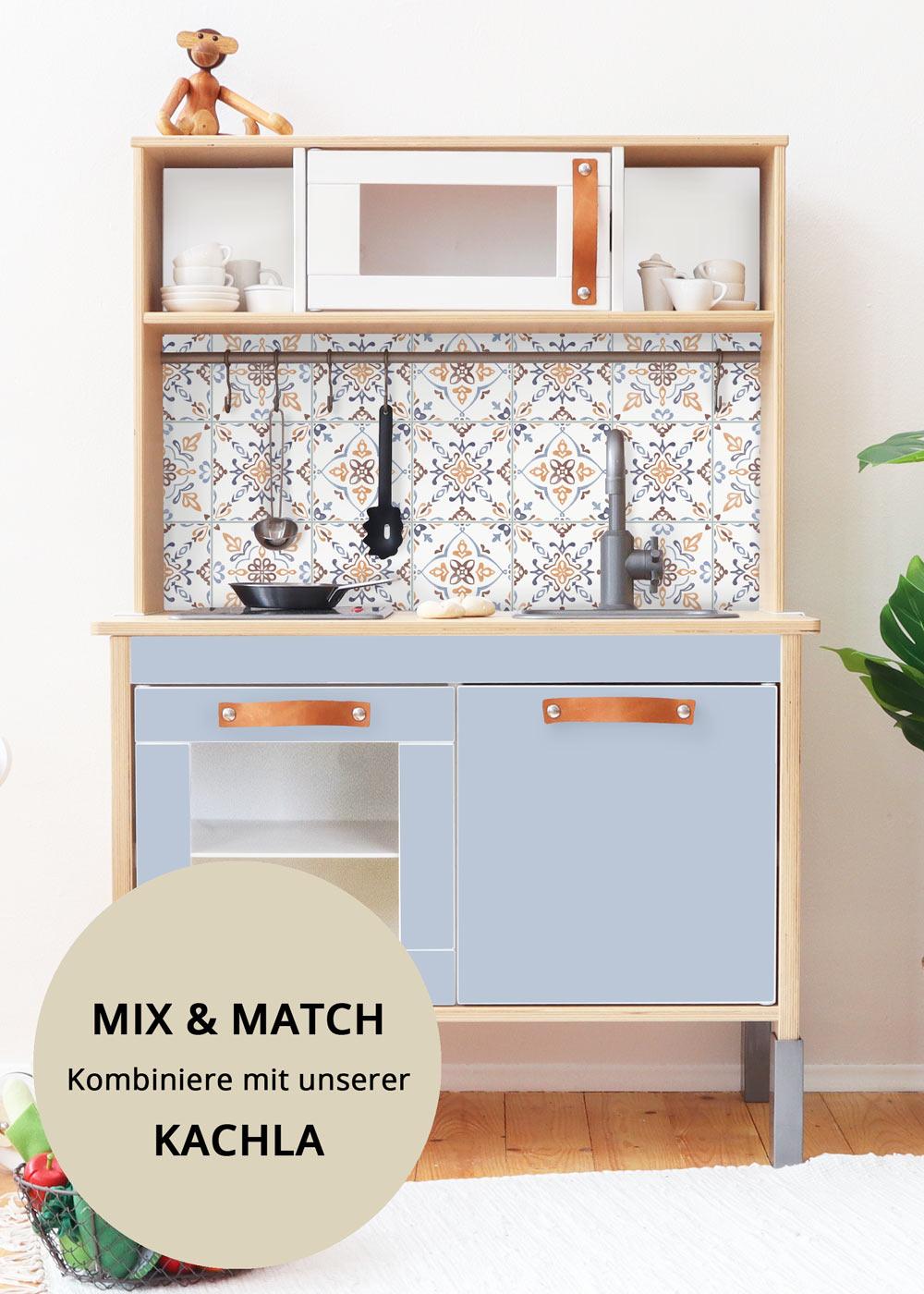 Ikea Duktig Kinderküche Frontli Nordisch blau Teilansicht