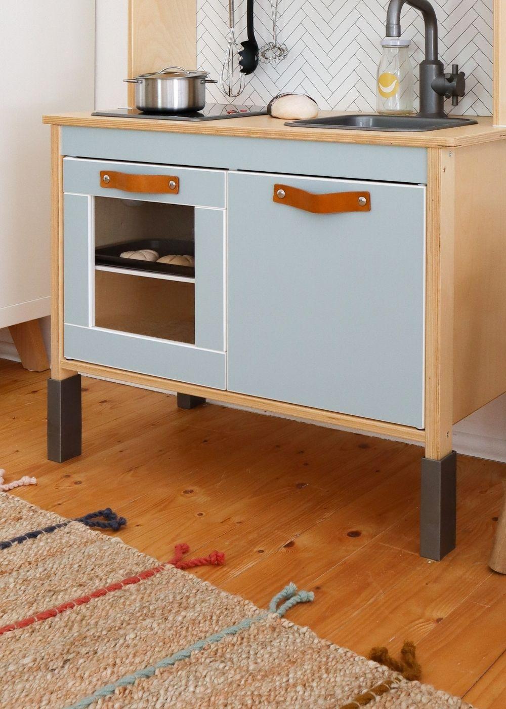 Frontli Kinderküche Klebefolie nordisch blau fertige Küche