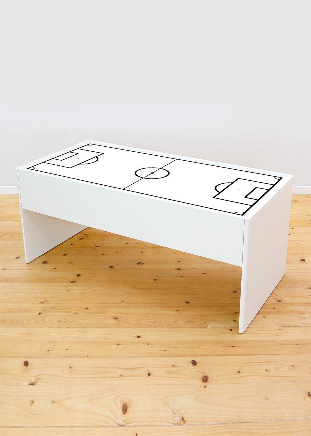 Ikea Dundra Spieltisch Fussballfeld weiss Komplettansicht