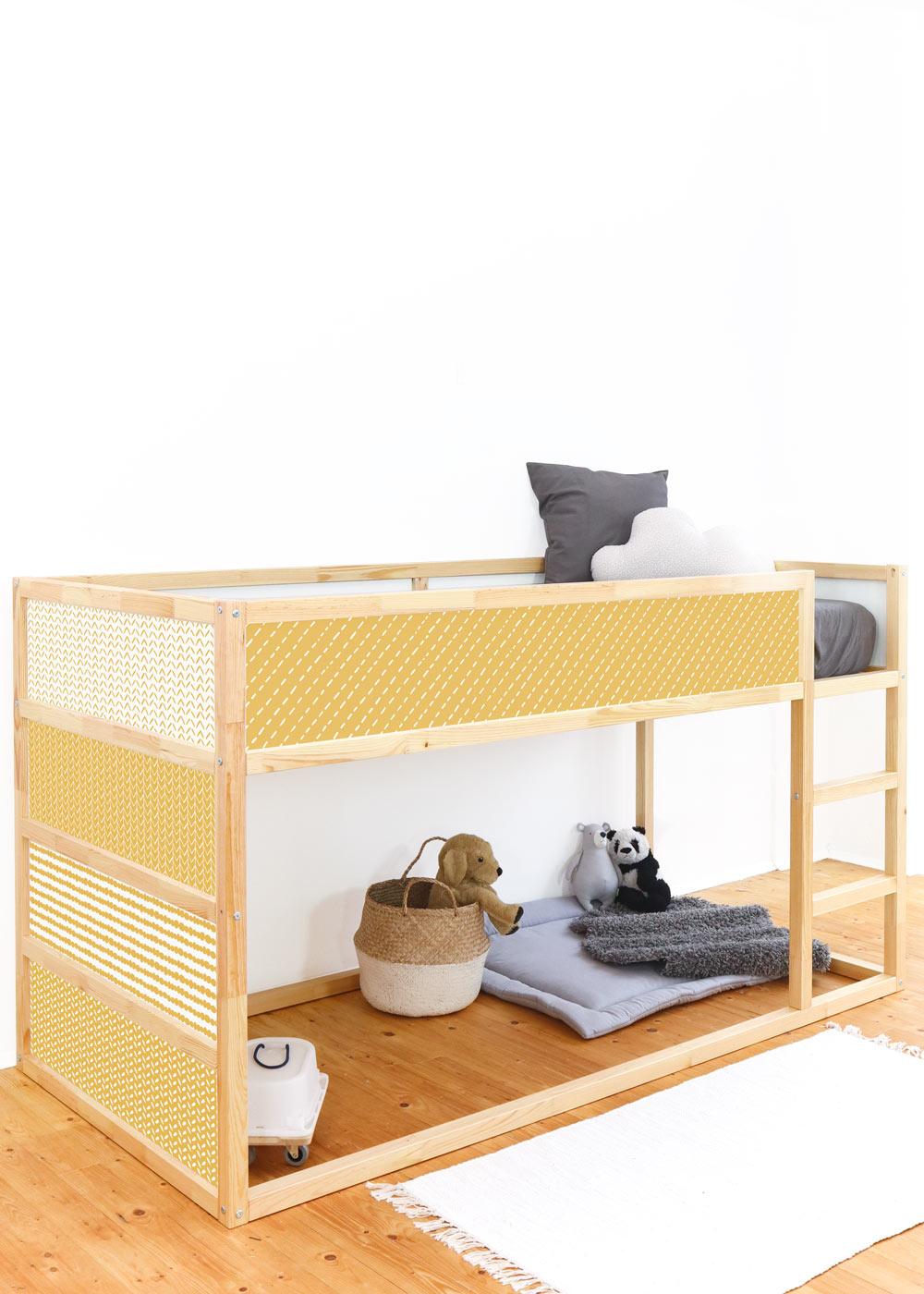 Ikea Kuras Hochbett Musta senf Gesamtansicht