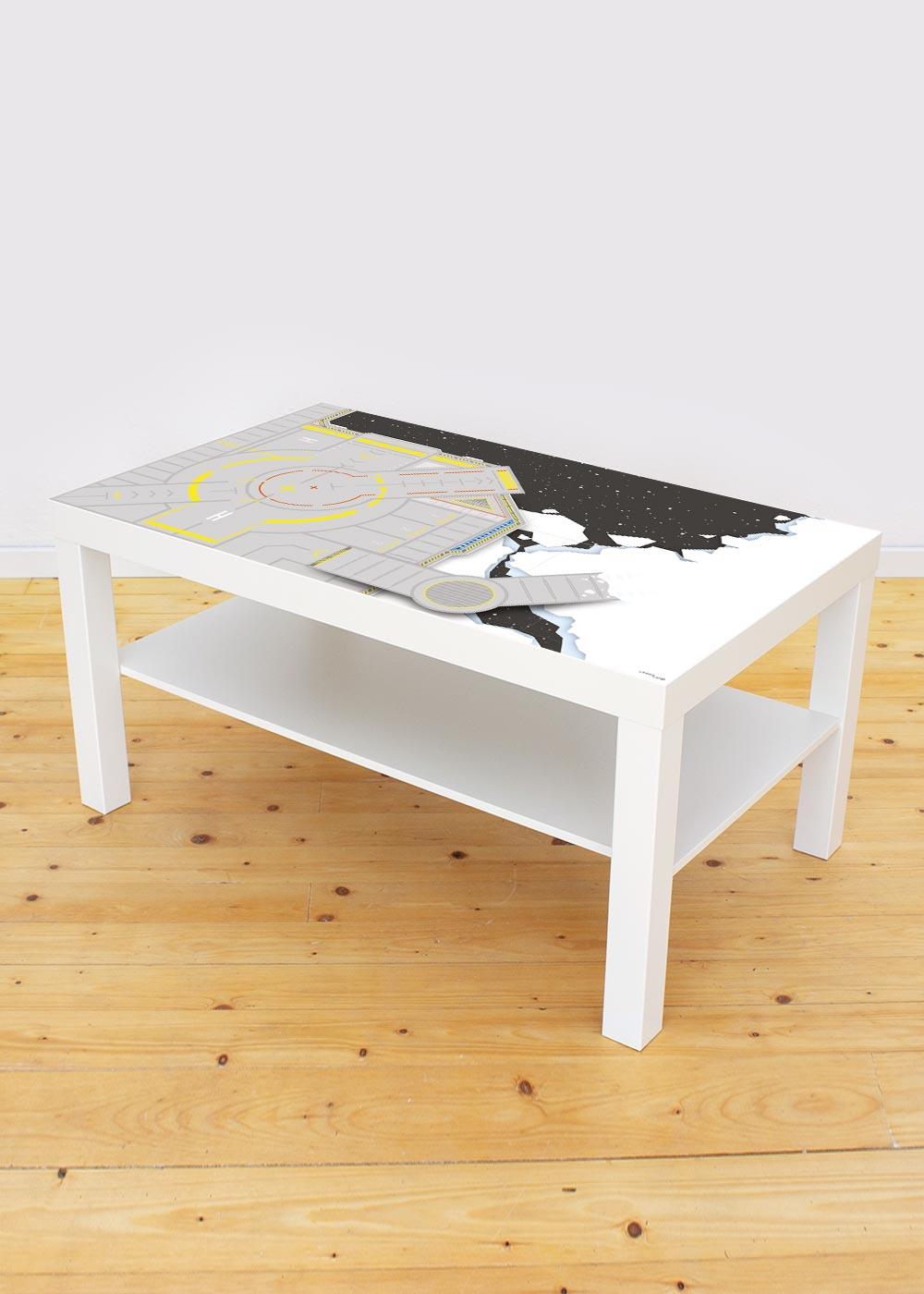 Ikea Lack Couchtisch Weltraum 55x90 Gesamtansicht
