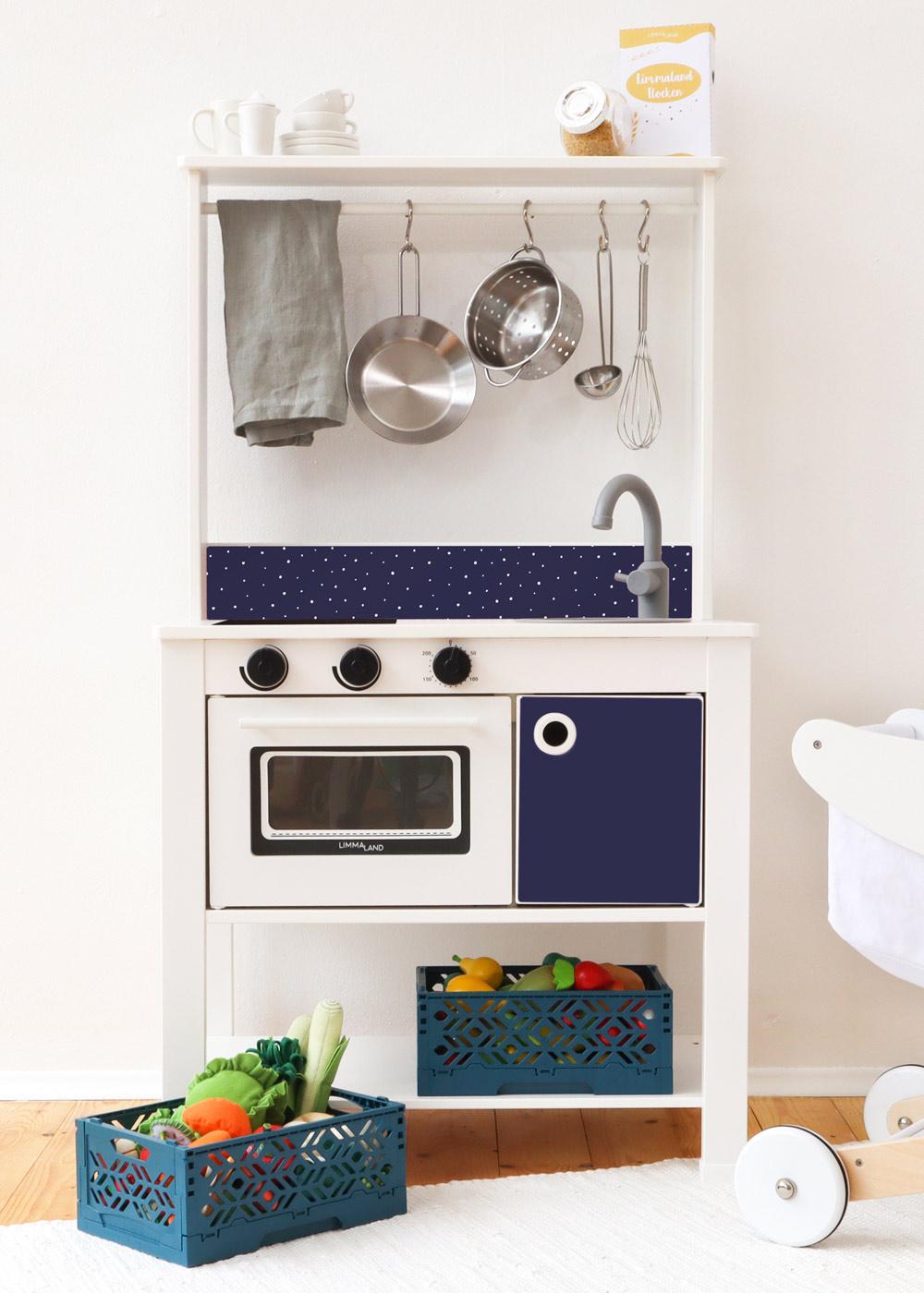 Ikea Spisig Kinderküche Tüpfelig Nachtblau