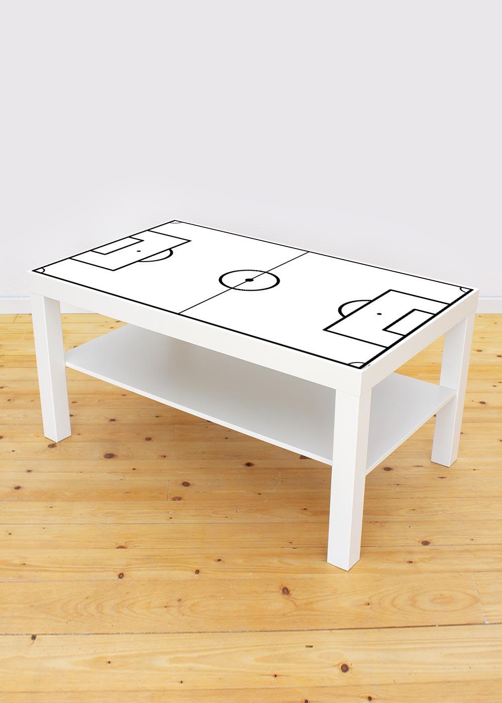 Ikea Lack Couchtisch Fussballfeld weiss 55x90 Gesamtansicht